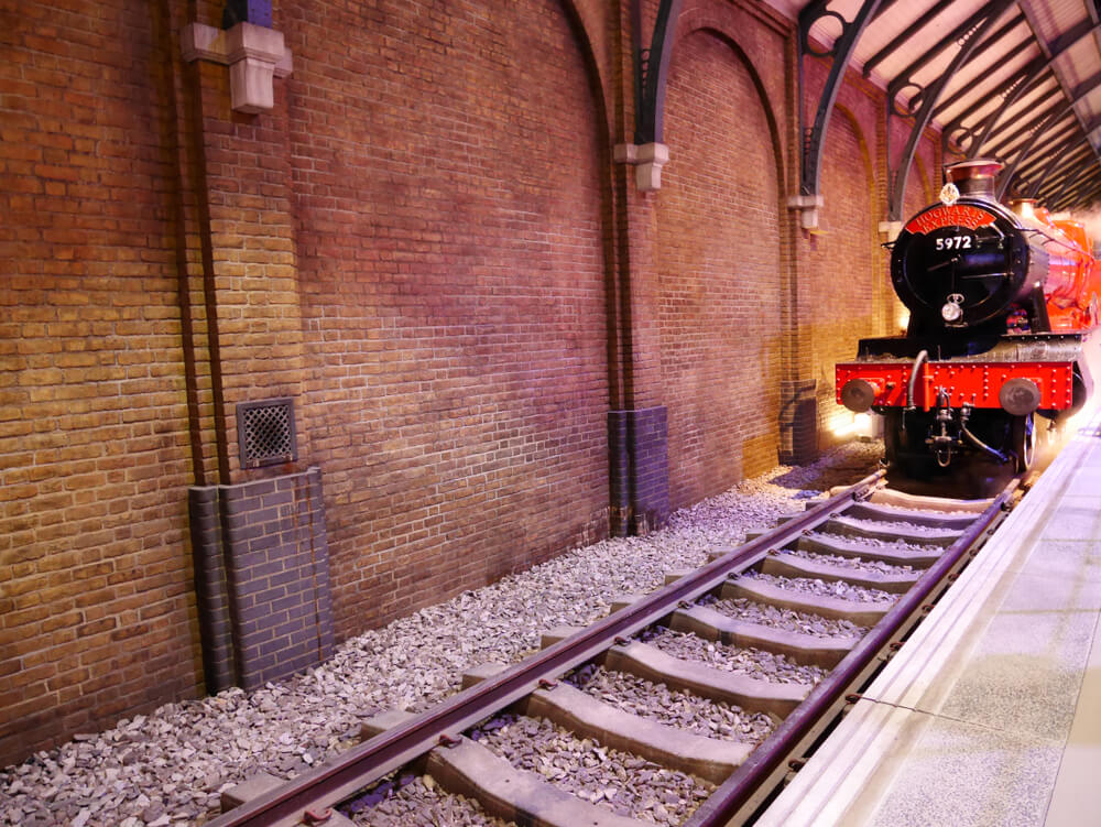 The Hogwarts Express and platform in the Warner Brothers Studio tour 'The making of Harry Potter'